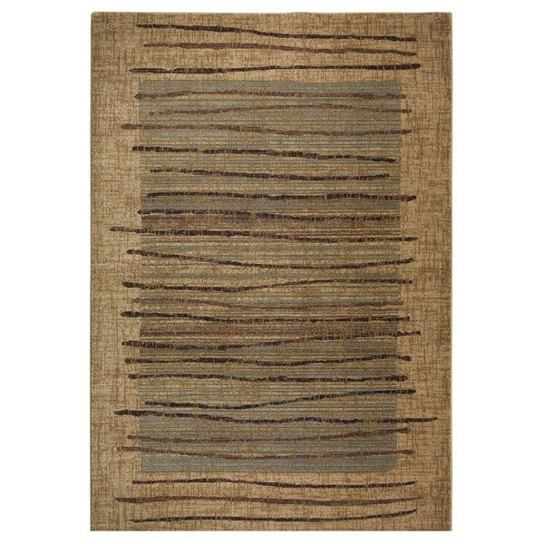 Rizzy home stripe beige bellevue collection accent rug 7 for Home accents rug collection