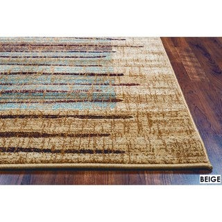 Rizzy Home Stripe Beige Bellevue Collection Accent Rug (9' 10 x 12' 6)