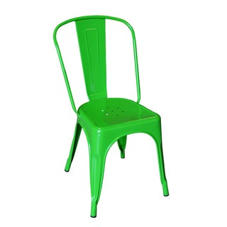 Tolix Style Green Bistro Dining Chair (Set of 2)