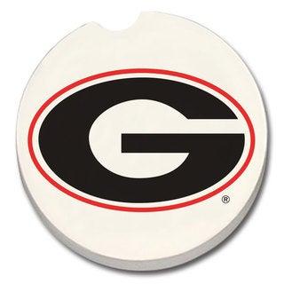 Georgia Bulldogs Absorbent Stone Car Coaster (Set of 2)
