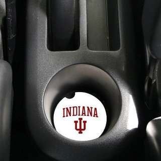 Indiana Hoosiers Absorbent Stone Car Coaster (Set of 2)
