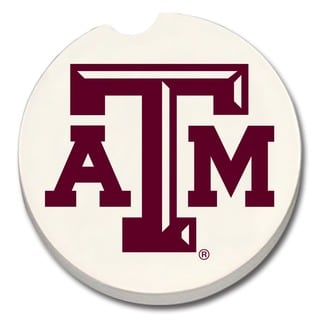 Texas A&M Aggies Absorbent Stone Car Coaster (Set of 2)