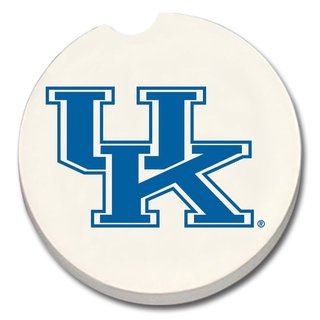 Kentucky Wildcats Absorbent Stone Car Coaster (Set of 2)
