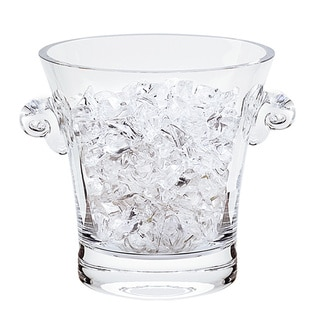 Chelsea 6-inch Glass Ice Bucket with Ram's Head Handles