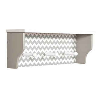 Trend Lab Dove Grey Chevron Shelf with Pegs