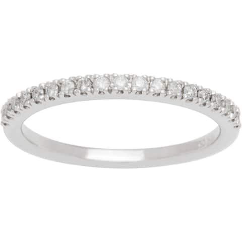 Boston Bay Diamonds 14k White Gold 1/3ct TDW Diamond Square Halo Wedding Band