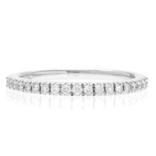 Boston Bay Diamonds 14k White Gold 1/5ct TDW Marquise Diamond Wedding Band (H-I, SI1-SI2)