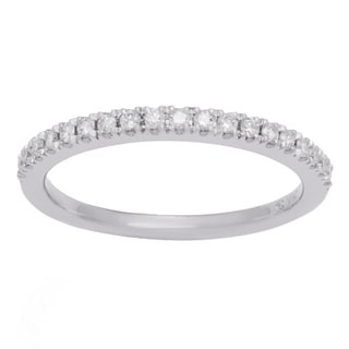 Boston Bay Diamonds 14k White Gold 1/2ct TDW Diamond Wedding Band
