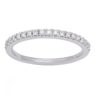 Boston Bay Diamonds 14k White Gold 1/2ct TDW Diamond Wedding Band (H-I, SI1-SI2)