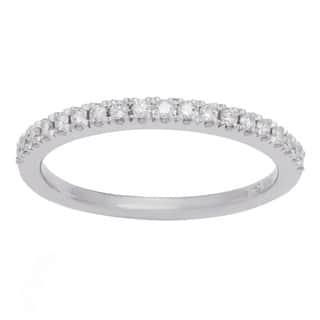 Boston Bay Diamonds 14k White Gold 1/2ct TDW Diamond Wedding Band|https://ak1.ostkcdn.com/images/products/10231296/P17351769.jpg?impolicy=medium