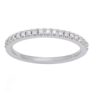 Boston Bay Diamonds 14k White Gold 1/2ct TDW Diamond Wedding Band