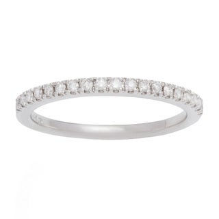 Boston Bay Diamonds 14k White Gold 1/3ct TDW Diamond Wedding Band