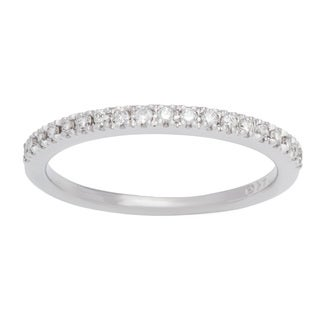 Boston Bay Diamonds 14k White Gold 1/5ct TDW Oval Diamond Wedding Band (H-I, SI1-SI2)