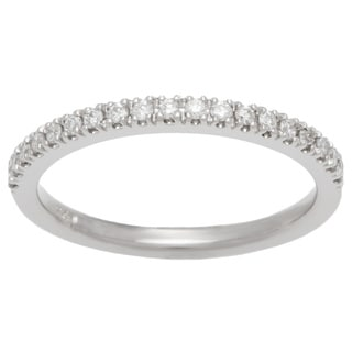 Boston Bay Diamonds 14k White Gold 1/5ct TDW Diamond Square Wedding Band (H-I, SI1-SI2)