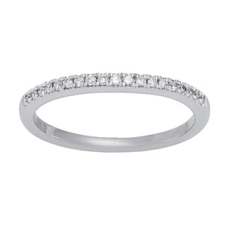 Boston Bay Diamonds 14k White and Rose Gold 1/10ct TDW Diamond Square Halo Wedding Band (H-I, SI1-SI2)