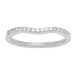 Boston Bay Diamonds 14k White and Rose Gold 1/10ct TDW Diamond Round Halo Wedding Band (H-I, SI1-SI2)