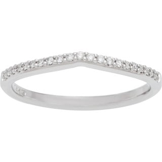 Boston Bay Diamonds 14k White Gold 1/10ct TDW Diamond Wedding Band (H-I, SI1-SI2)