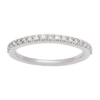 Boston Bay Diamonds 14k White Gold 1/4ct TDW Diamond Wedding Band (H-I, SI1-SI2)