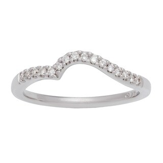 Boston Bay Diamonds 14k White Gold 1/8ct TDW Diamond Wedding Band (H-I, SI1-SI2)