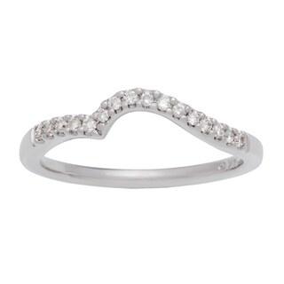 Boston Bay Diamonds 14k White Gold 1/8ct TDW Diamond Wedding Band