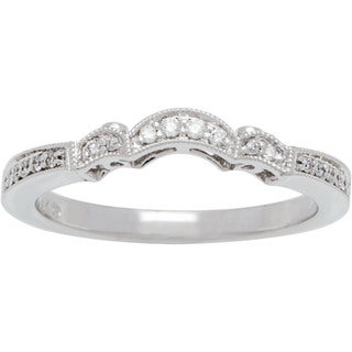 Boston Bay Diamonds 14k White Gold 1/5ct TDW Diamond Contour Wedding Band (H-I, SI1-SI2)