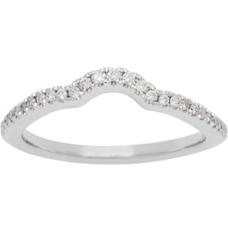 Boston Bay Diamonds 14k White Gold 1/6ct TDW White and Yellow Diamond Wedding Band (H-I, SI2-I1)
