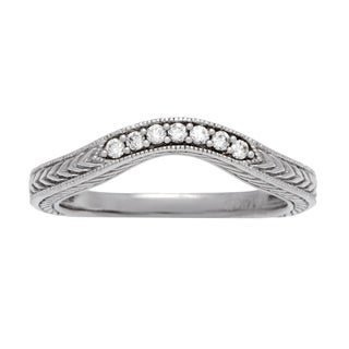 Boston Bay Diamonds 14k White Gold 1/10ct TDW Diamond Wedding Band (H-I, SI2-I1)