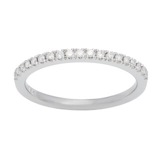 Boston Bay Diamonds 14k White Gold 1/8ct TDW Diamond Wedding Band (H-I, SI2-I1)