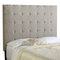 Humble + Haute Stratton Tall Ash Grey Upholstered Tufted Headboard
