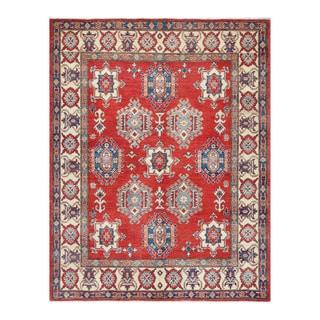Herat Oriental Afghan Hand-knotted Kazak Wool Rug (5'9 x 7'4)