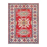 Herat Oriental Afghan Hand-knotted Kazak Wool Rug - 6'7 x 8'7
