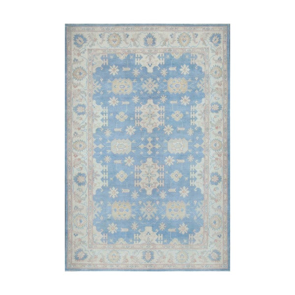Herat Oriental Afghan Hand-knotted Vegetable Dye Oushak Wool Rug (6' x 8'10) - 6' x 8'10