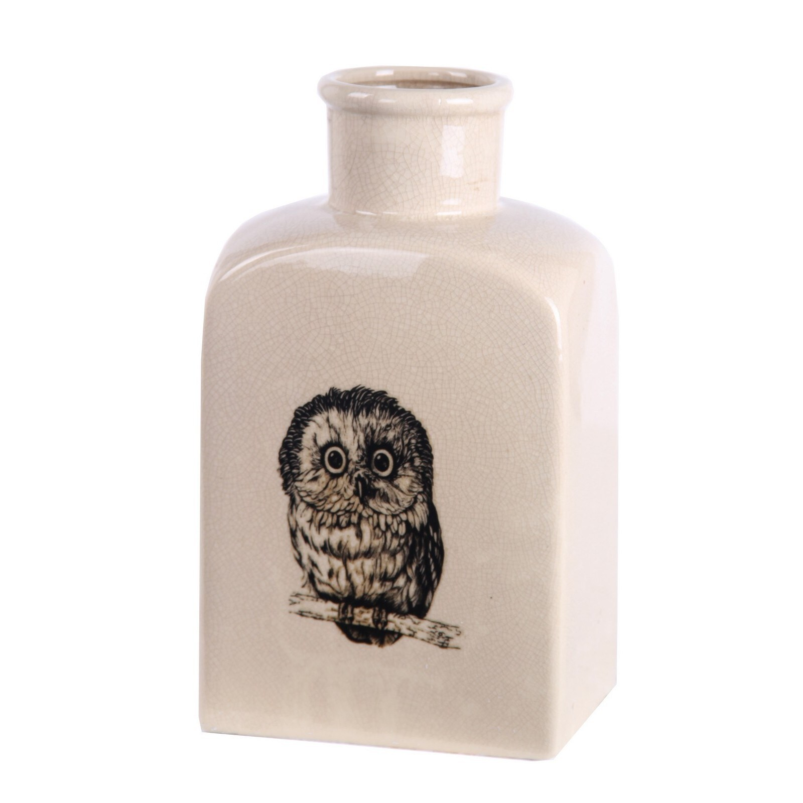 Privilege Cream Owl Ceramic Vase (Owl)