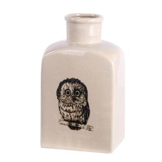 Privilege Cream Owl Ceramic Vase