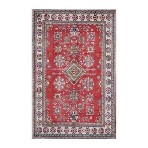 Handmade Kazak Wool Rug (Afghanistan) - 7' x 10'5