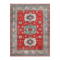 Herat Oriental Afghan Hand-knotted Kazak Wool Rug (9' x 11'10)