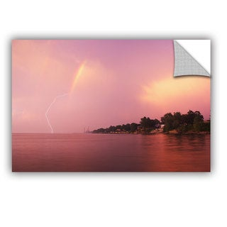 ArtWall Dan Wilson ' Rainbows And Lightning ' Art Appealz Removable Wall Art