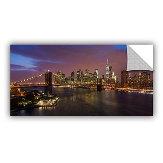 ArtWall Cody York ' Nyc With Brooklyn Bridge ' Art Appealz Removable Wall Art