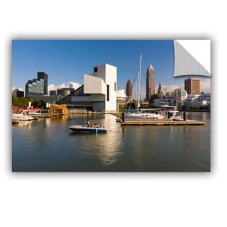 Cody York' Cleveland Skyline 7' Art Appealz Removable Wall Art