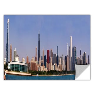 ArtWall Cody York ' Chicago Pano ' Art Appealz Removable Wall Art
