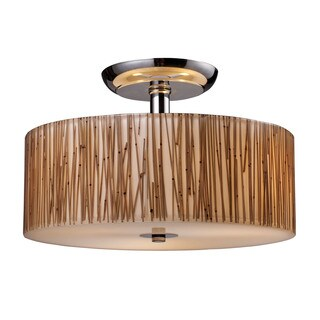 Modern Organics Polished Chrome 3-light Semi Flush Fixture