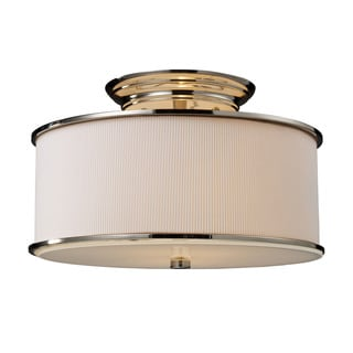 Lureau Polished Nickel 2-light Semi Flush Fixture