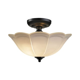 Mix N Match Shades Matte Black 3-light Semi Flush Fixture