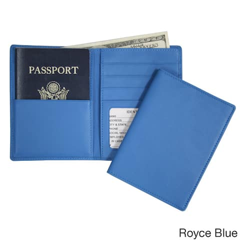 Royce Leather Passport Currency Wallet in Genuine Leather