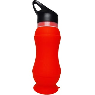 Foldable Silicone Water Bottle Red (Set of 2)