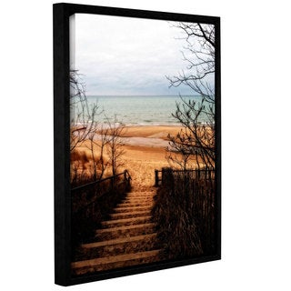 ArtWall Kevin Calkins ' To The Beach ' Gallery-Wrapped Floater-Framed Canvas