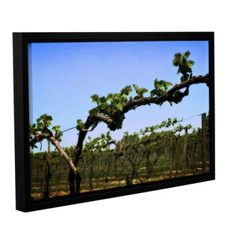 ArtWall Kevin Calkins ' Spring Vineyard ' Gallery-Wrapped Floater-Framed Canvas