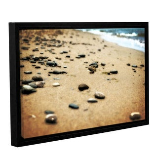 ArtWall Kevin Calkins ' Pebbles And Waves ' Gallery-Wrapped Floater-Framed Canvas
