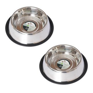 Iconic Pet 2-pack Stainless Steel Non-Skid Pet Bowl
