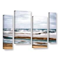 ArtWall Kevin Calkins ' Winter Shore 4 Piece ' Gallery-Wrapped Canvas Staggered Set - Multi